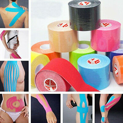5M*5CM Kinesiology Tape Athletic Muscle Support Sport Physio Therapeutic Tape RF