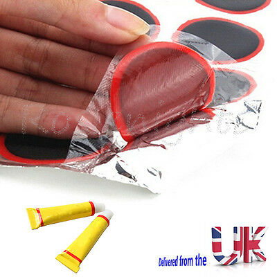 Rubber Puncture Patches Bicycle Bike Tire Tyre Tube Repair Patch Kit Glue Cement