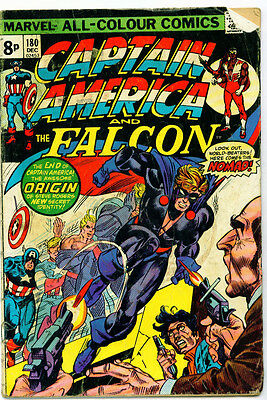 <•.•> CAPTAIN AMERICA AND THE FALCON (VOL.1) • Issue 180 • 1st Nomad • Marvel
