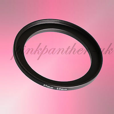 49mm-58mm 49mm to 58mm 49-58 mm Filter Ring Adapter - Step Up / Stepping from UK