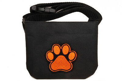 Magnetic closure Dog treat pouch bait bag - for dog shows and training. Black