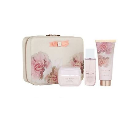 Ted Baker Pink Beauty Bag Christmas Gift Set Body Wash, Body Spray & Souffle
