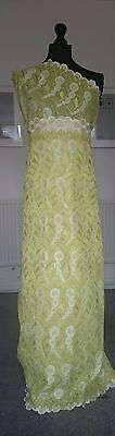 yellow African lace Fabric for weddings and special occasions sold per yard