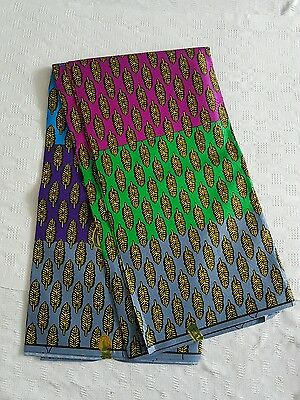 New African Cotton Print Fabric Ankara Stunning Bright Bold Colors Sold Per Yard