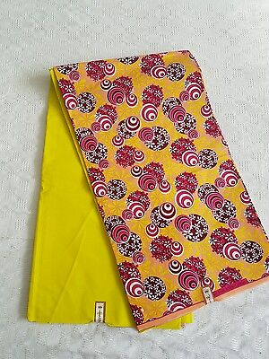 New African Cotton Print Cloth 2 Yrds Plain & 4Yrds Pattern Ankara For Dresses
