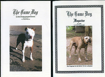 dogs pit bull terriers game 2 x books american staffordshire Mario fighting