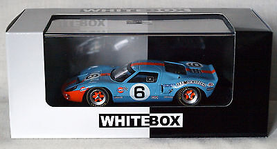 FORD GT40 - No. 6 GULF 24 Hour Le Mans - Whitebox WBXR001 - 1:43  NEW & BOXED