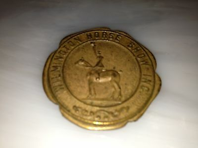 Wilmington Horse Show Inc metal token medallion
