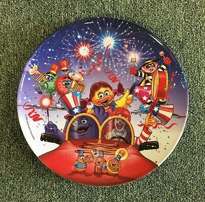 """Vintage 2002 MCDONALD'S Melamine PLATE 9.5"""" 4th of July - Independence Day"""