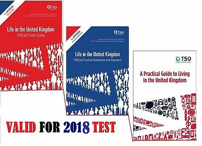 Life in the UK United Kingdom Official Guides-3 books 2016/17 Test-stdqalfP