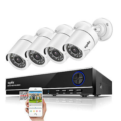 SANNCE 1080N 8CH AHD HDMI DVR 1500TVL 720P Outdoor Cameras Home Security System