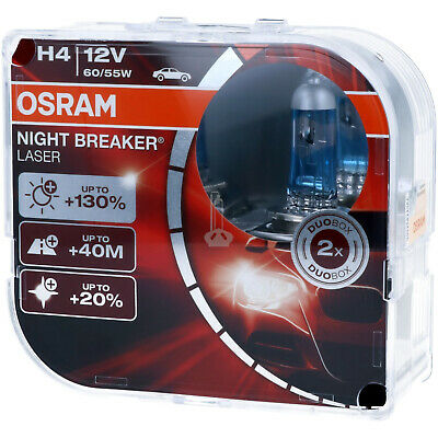 H4 OSRAM Night Breaker LASER - Extra Power Scheinwerfer Lampe DUO-Pack NEU