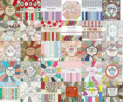 """Dovecraft First Edition scrapbooking paper 8"""" x 8"""" Full Pack - FREE UK P&P"""