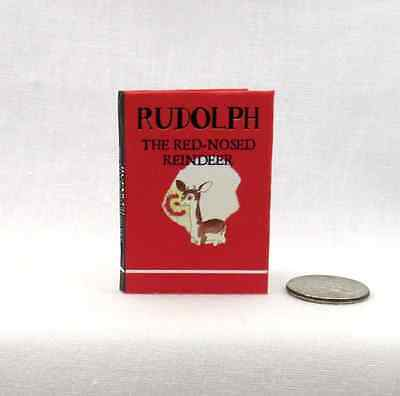 RUDOLPH THE RED NOSED REINDEER Illustrated1:6 Scale Miniature Book Playscale