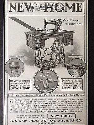Antique Original Print Ad 1901 (5)~New Home Sewing Machine