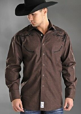 Style: 36S1794 -PHS RETRO WITH EMBROIDERY - MENS LS SNAP