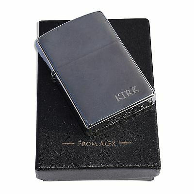 Personalised Zippo lighter - FREE engraving to the lighter & box!