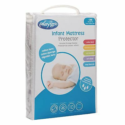 Playgro Cotton Terry Crib Mattress Protector for baby & infant nursery