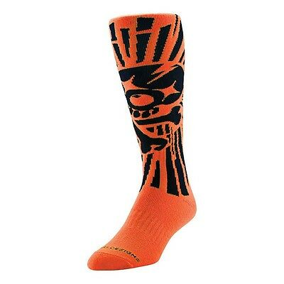 Troy Lee L/XL UK 10-13 Adult MX SKULLY ORANGE GP Socks Motocross Enduro