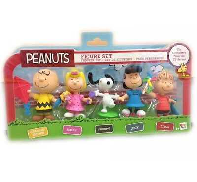 PEANUTS - CHARLIE BROWN - FIGURE SET ( 5 Pack ) - By IMC Toys