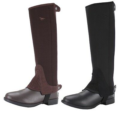 Red Horse Adults Mini Half Chaps Neoprene ALL SIZES **BLACK OR BROWN