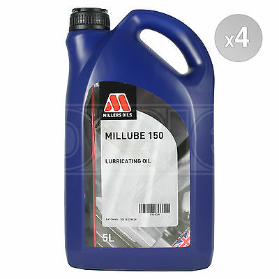 Millers Oils Millube 150 Industrial Mineral Lubricating Oil - 4 x 5 Litres 20L