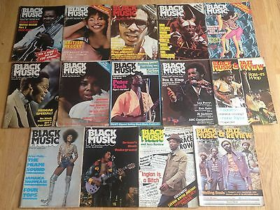 X14 VINTAGE 70's BLACK MUSIC BOOKS / MAGAZINES SOME WITH POSTERS RARE SOUL FUNK