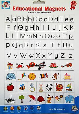 Learning Educational MAGNETIC Letters & Pictures Fridge Magnets Alphabet Spell