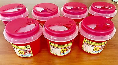 7 PACK-- Sharps Container Biohazard Needle Disposal 0.21 Gallon Size 0.80 Liters