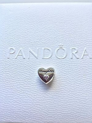 Authentic Pandora Sterling Charm Bead S925 925 Daughter Daughter's Love CZ Ale