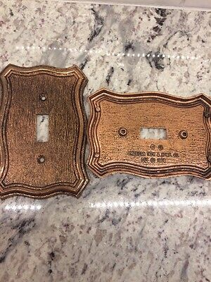 Vintage American Tack & HDWE Hardware Light Switch Cover Plate 1968 Brass Bronze