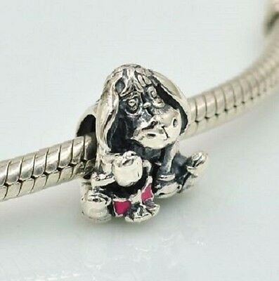 Authentic Genuine Pandora Sterling Silver Charms Disney Eeyore Dark Pink CZ S925
