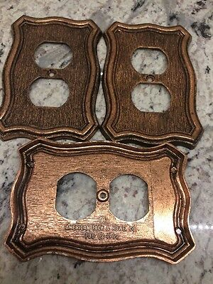 Vintage American Tack and Hardware & Hdwe 1968 outlet cover plate Brass Bronze