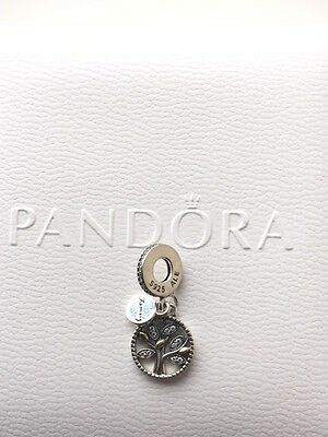 Authentic Pandora Sterling Charm Beads S925 925 Family Heritage Tree Dangle Ale