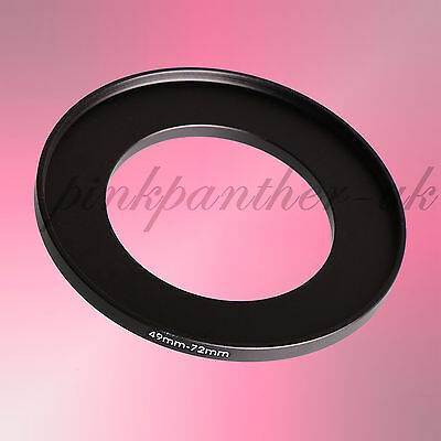 49mm-72mm 49mm to 72mm 49-72 mm Filter Ring Adapter - Step Up / Stepping from UK