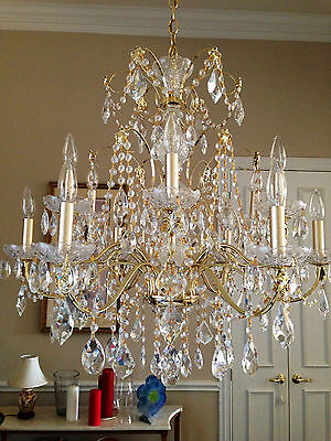 "Schonbek Century 1712 Chandelier 30"" 12 light"