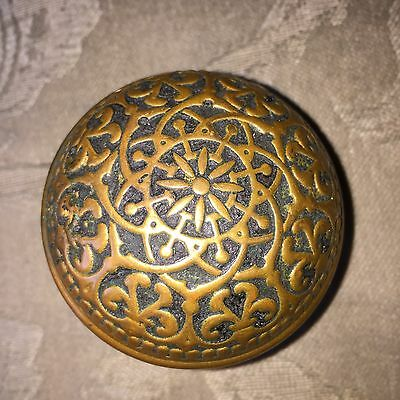 Antique Fancy Victorian Cast Brass Doorknob Door Knob