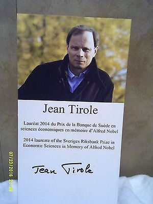 Jean Tirole 2014 Nobel Prize Authentic Hand Signed Photo
