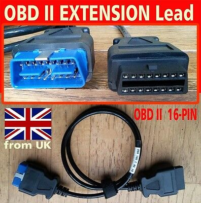 OBD II 16pin EXTENSION CABLE new from UK