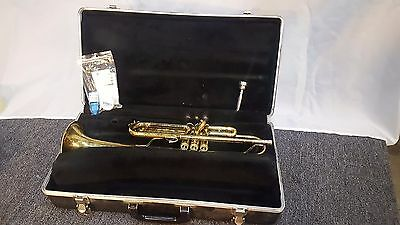 Nice sounding Used Bach Tr-300 Bb Trumpet W/ Case & Mouthpeice