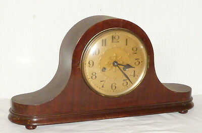 Antique Art nouveau Table clock Pendule Mantel Buffet Wood Watch Cabinet
