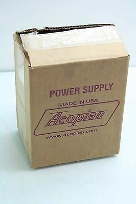 New Acopian B12G200 Linear Regulated AC-DC Power Supply 12V @ 2A Output