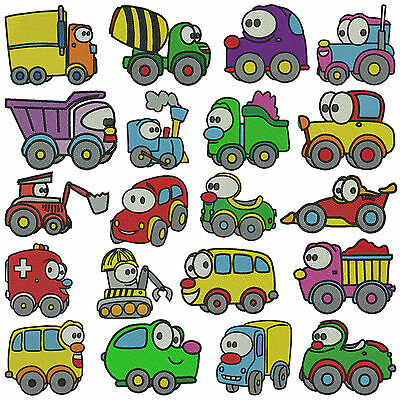 * WHEELS * Machine Embroidery Patterns * 20 designs x 2 sizes