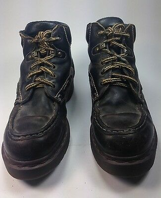 39ac396872be Men s Vintage Dr. Martens Lace Up Moccasin Toe Brown Leather Ankle Boots  Sz.8