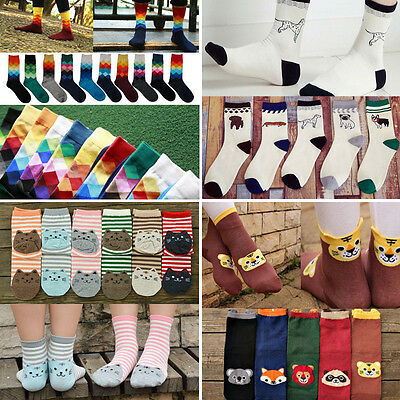 Women Men Cotton Socks Design Multi-Color Winter Warm Cute Soft Sports Sock 2017