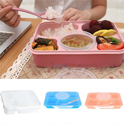 New Non-toxic Microwave Bento Lunch Box Food Container Box with Spoon Utensils