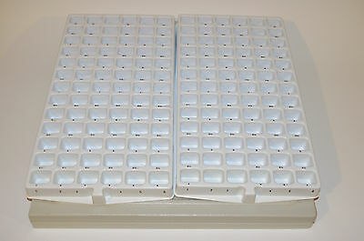 2 LARGE HEAVY DUTY STACKABLE Organizer Display Trays Jewelry 156 Compartments ..