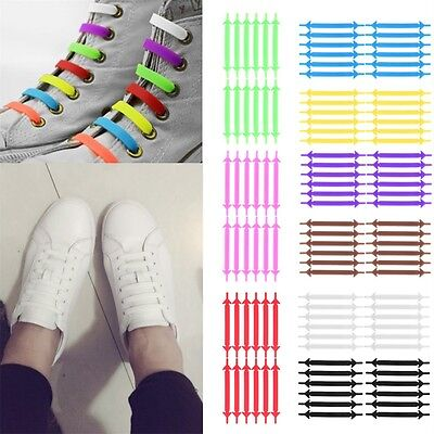 Creative Unisex Running No Tie Shoelaces Elastic Silicone Shoe Lace For Shoes I6