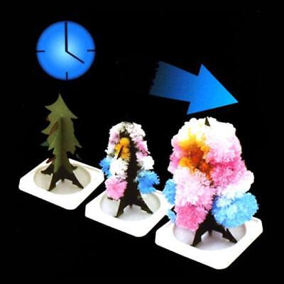 Kids Magic Growing Crystal Tree Kit Christmas Paper Decoration Science Toy Gift
