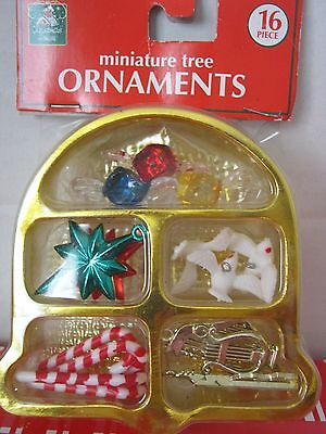 Doll House Tree Assorted Miniature Christmas Ornaments NIP Greenbrier Int. Inc.
